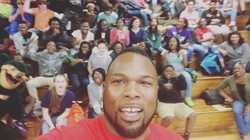 Speaking to the kids at St. George about being mentally ready for testing