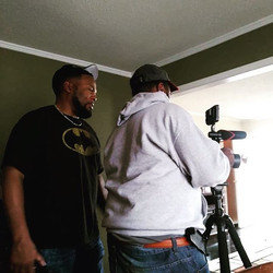 On set with the famous _purplecasper1911 mad respect thank you for your help in filming my new movie