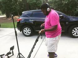 BenjaminDiamondFilm on set filming _benj