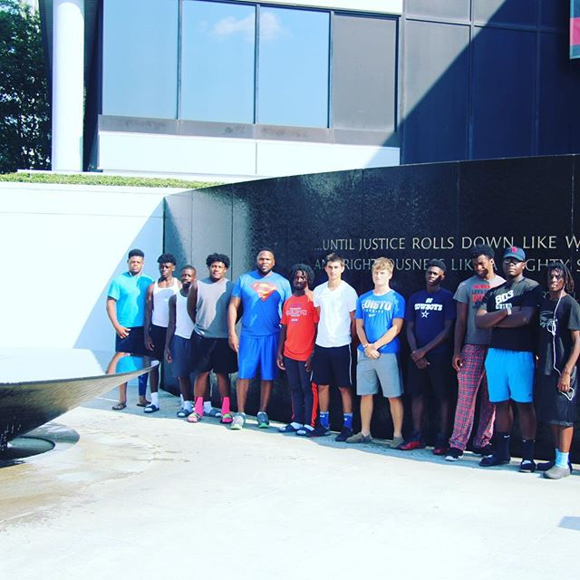 Took a group of young men To Montgomery AL to see where the civil rights movement started