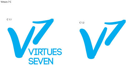V7 Martial Arts logo concepts, designed by Hannah Kroese, HK Creative, graphic designer in Moscow Idaho