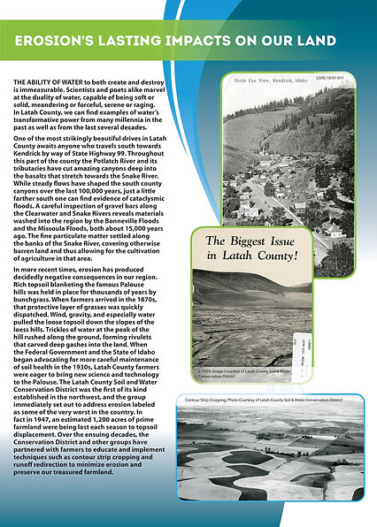 Water in Latah County, poster created to complement the traveling Smithsonian Water/Ways exhibit, designed by Hannah Kroese, HK Creative, graphic designer in Moscow Idaho