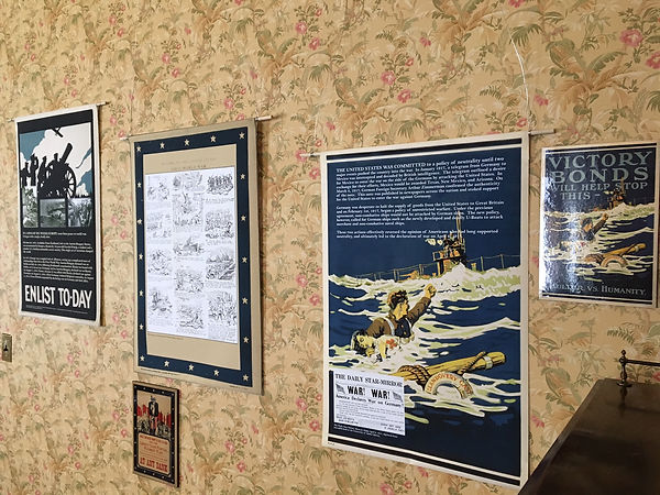 World War I exhibit panel created for the Latah County Historical Society, designed by Hannah Kroese, HK Creative, graphic designer in Moscow Idaho