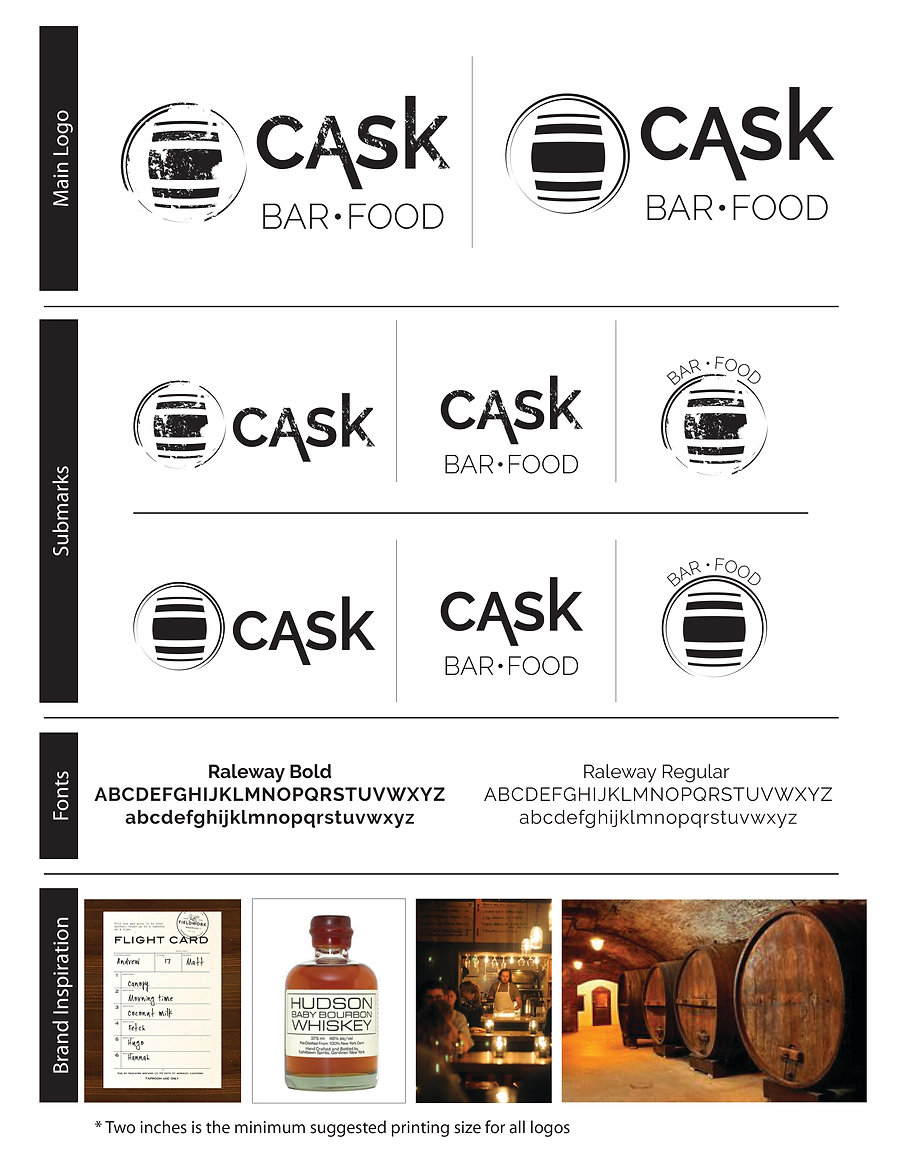 Cask branding guide, style sheet, designed by Hannah Kroese, HK Creative, graphic designer in Moscow Idaho