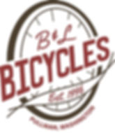 B&L Bicycles final logo modification, designed by Hannah Kroese, HK Creative, graphic designer in Moscow Idaho