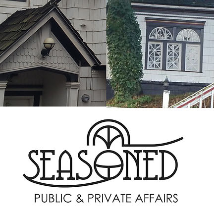 Seasoned House logo concept, event venue in Pullman, designed by Hannah Kroese, HK Creative, graphic designer in Moscow Idaho