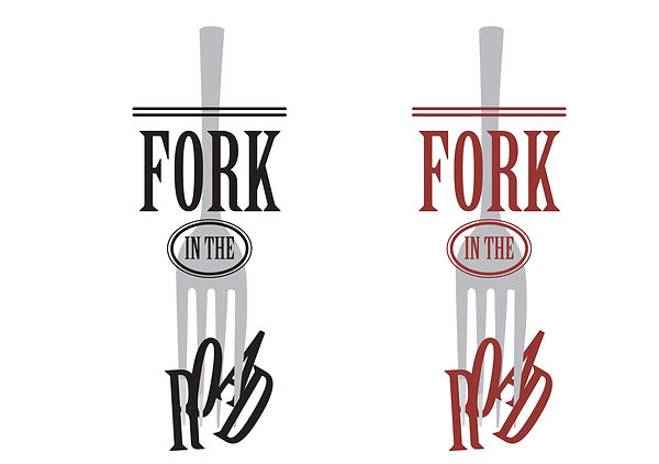 Fork in the Road logo, designed by Hannah Kroese, HK Creative, graphic designer in Moscow Idaho