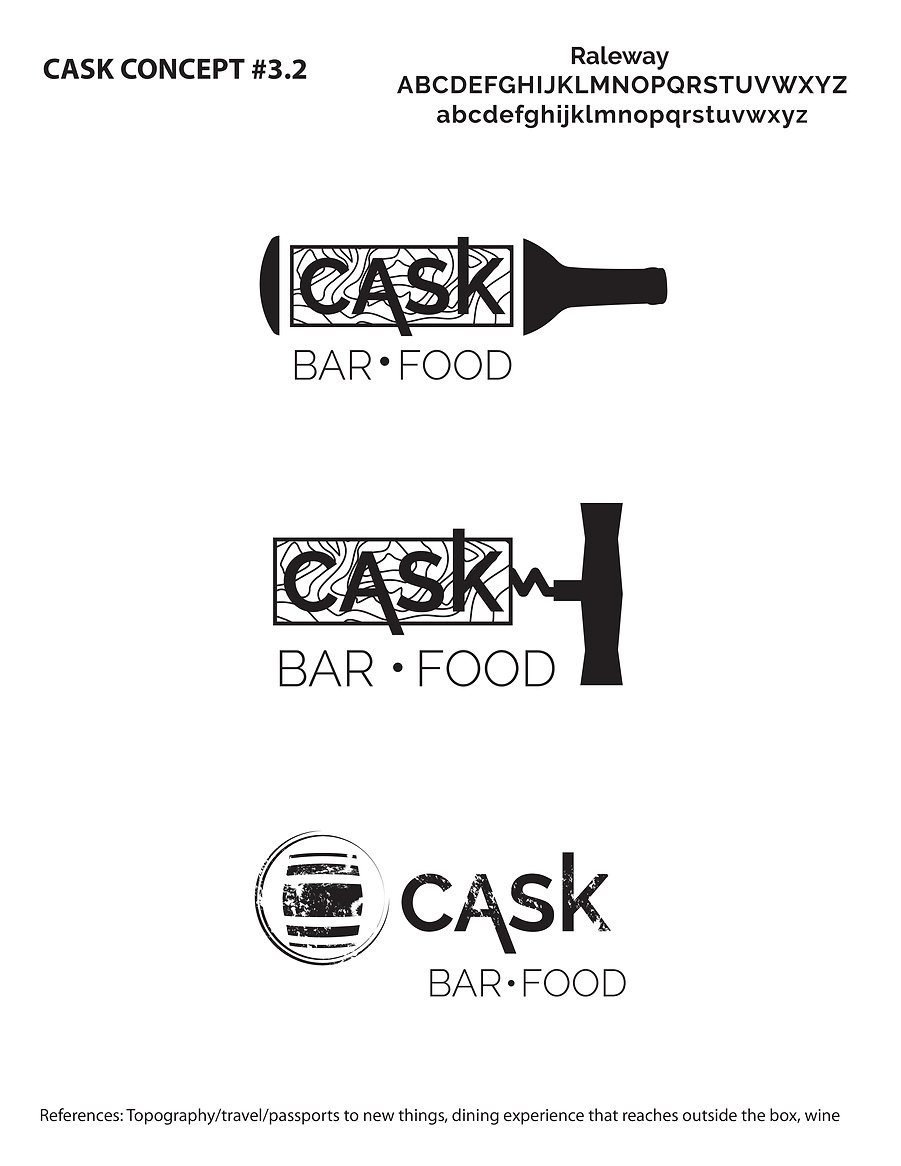 Cask Logo concept, designed by Hannah Kroese, HK Creative, graphic designer in Moscow Idaho