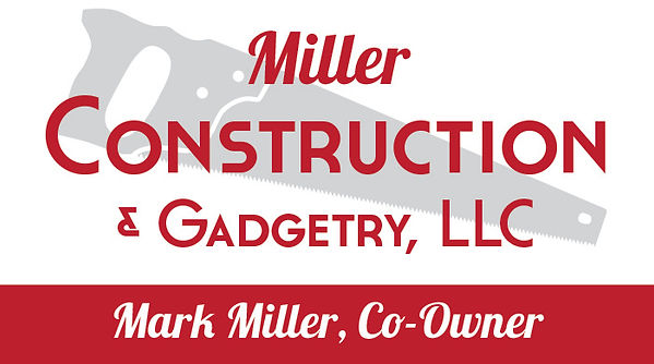 Miller Construction & Gadgetry business card, designed by Hannah Kroese, HK Creative, graphic designer in Moscow Idaho