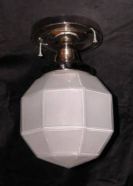 Hexagon One Light Ceiling Mount