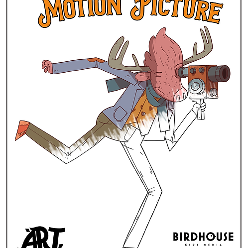 Atticus Makes A Motion Picture - Colouring Page