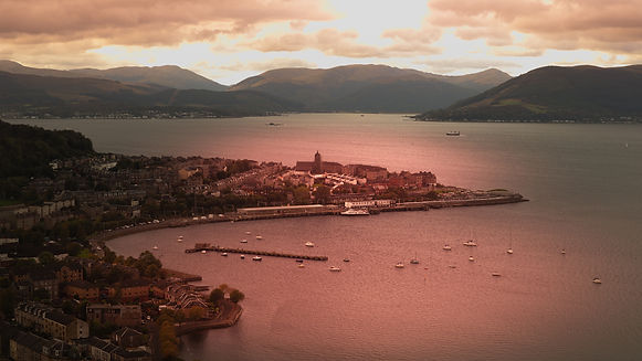 Firth of Clyde and highlands of Scotland