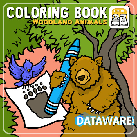 Woodland Creatures Coloring Book