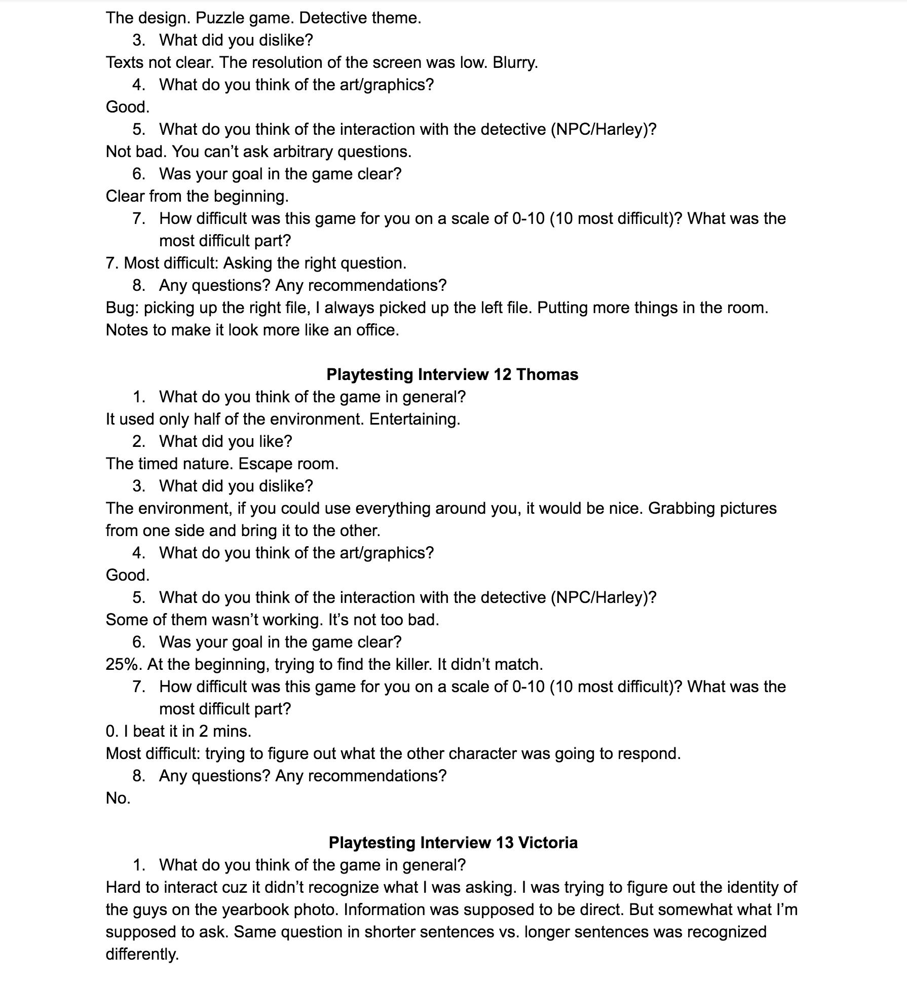 Playtest interview 7