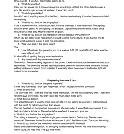 Playtest interview 5