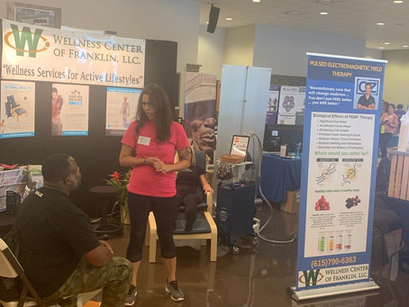 PEMF therapy featured at the Holistic Health Expo in Springhill...what a great response!
