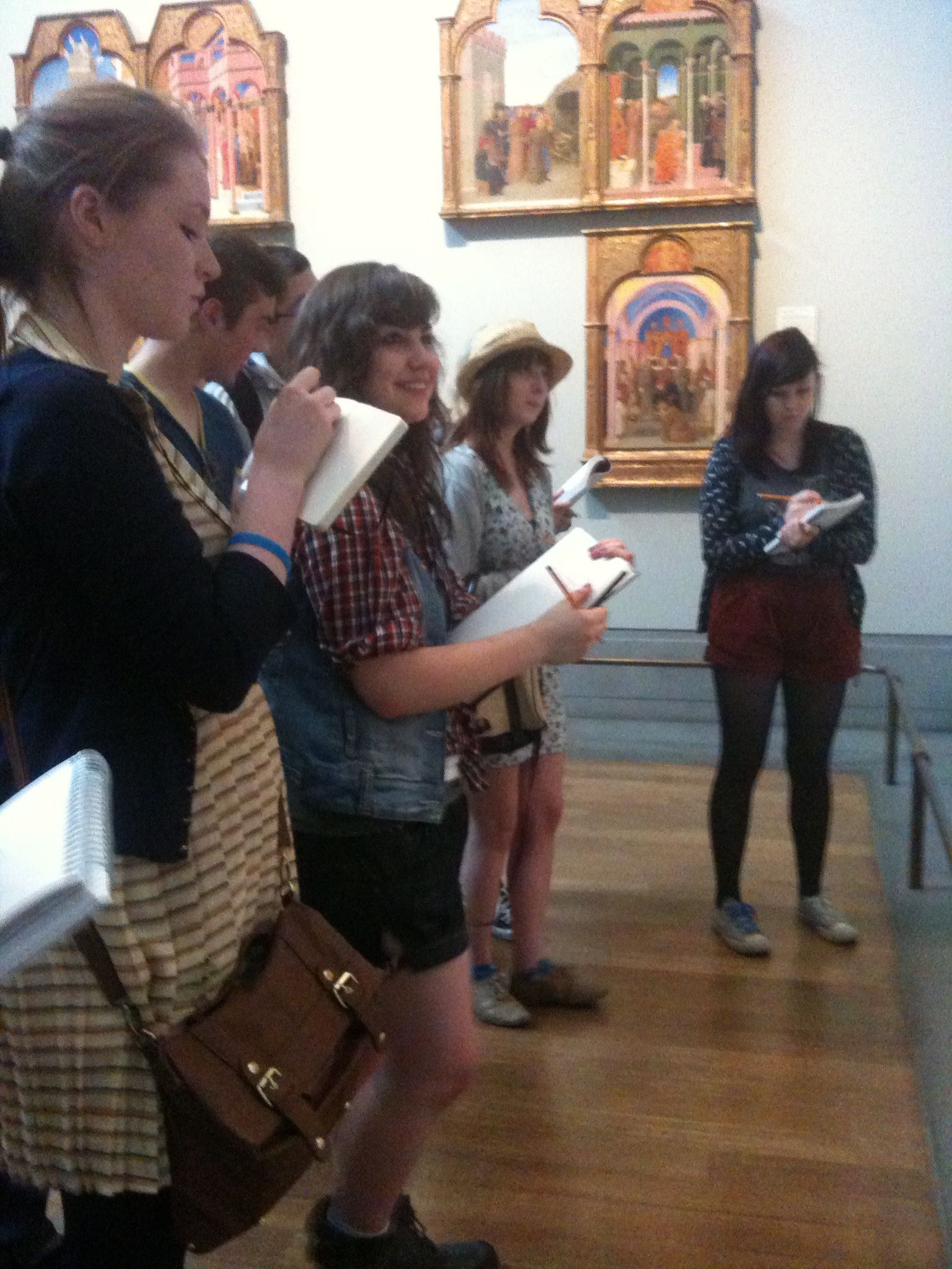 Drawing in the National Gallery London 2011.JPG