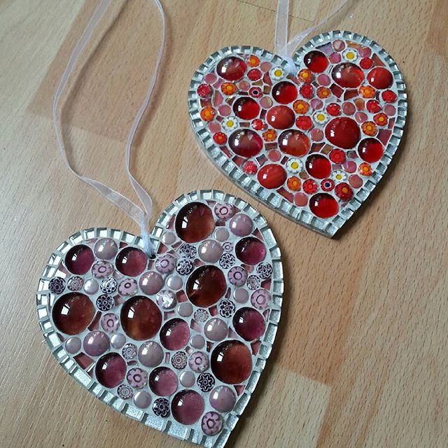 LMH9 Large Millefiore Hearts (Various Colours)  £23 Each