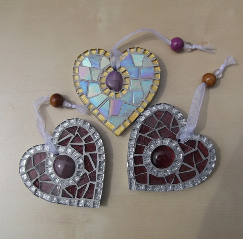 Small Birthstone Hearts  £11 Each