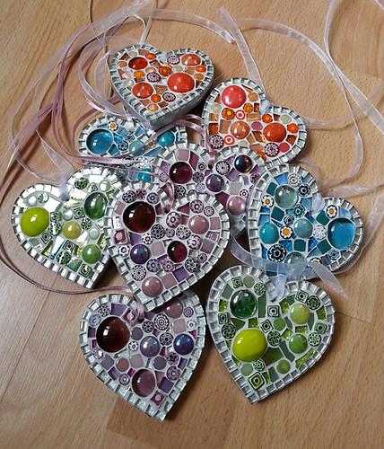 SMH2 Small Millefiore Hearts (Various Colours)  £12 Each