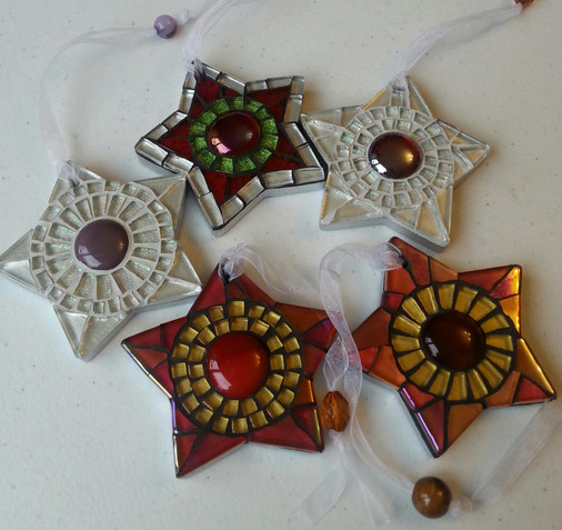 SCS23 Small Chunky Stars Red/Gold/Orange  £9 Each