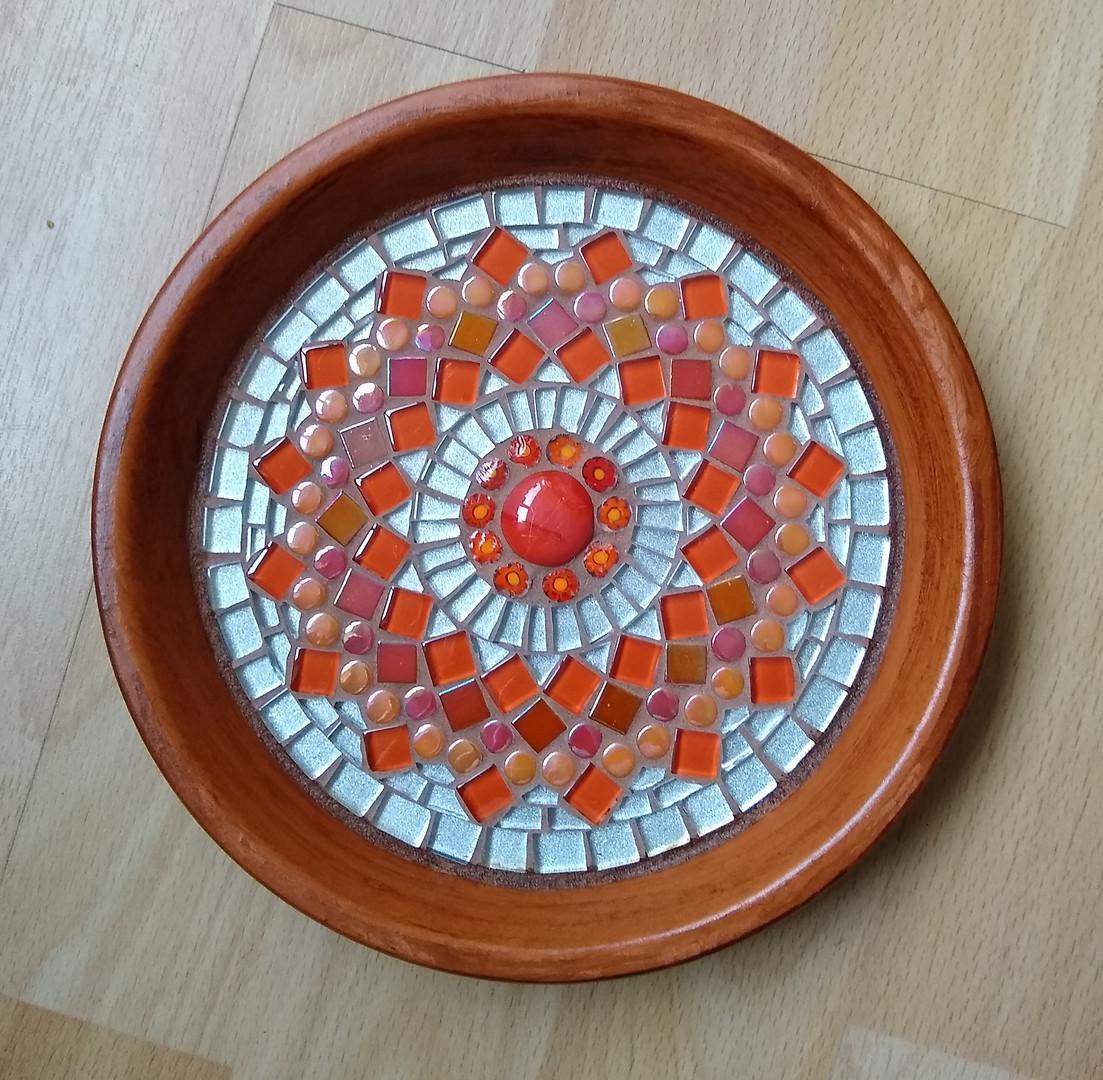TD2 Orange & Silver Mandala  £30