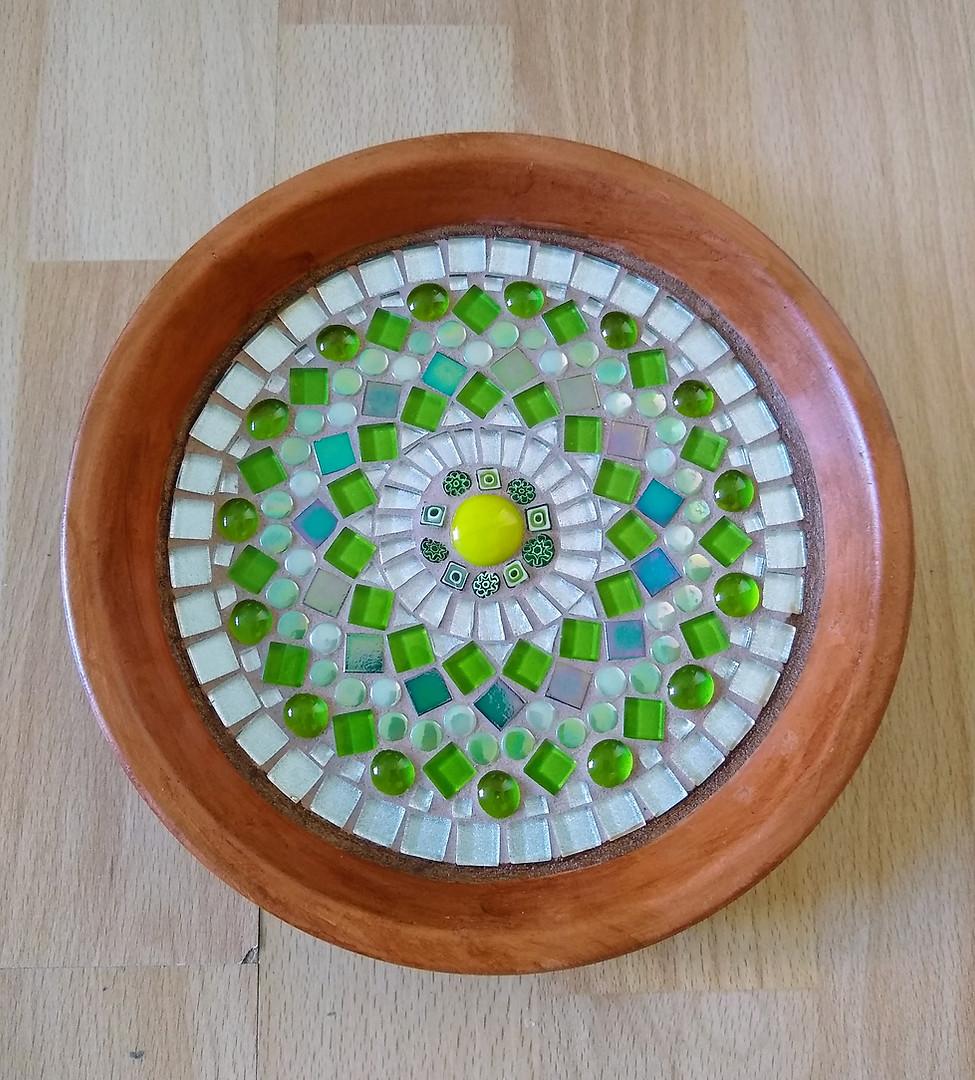 TD1 Green & Silver Mandala  £30