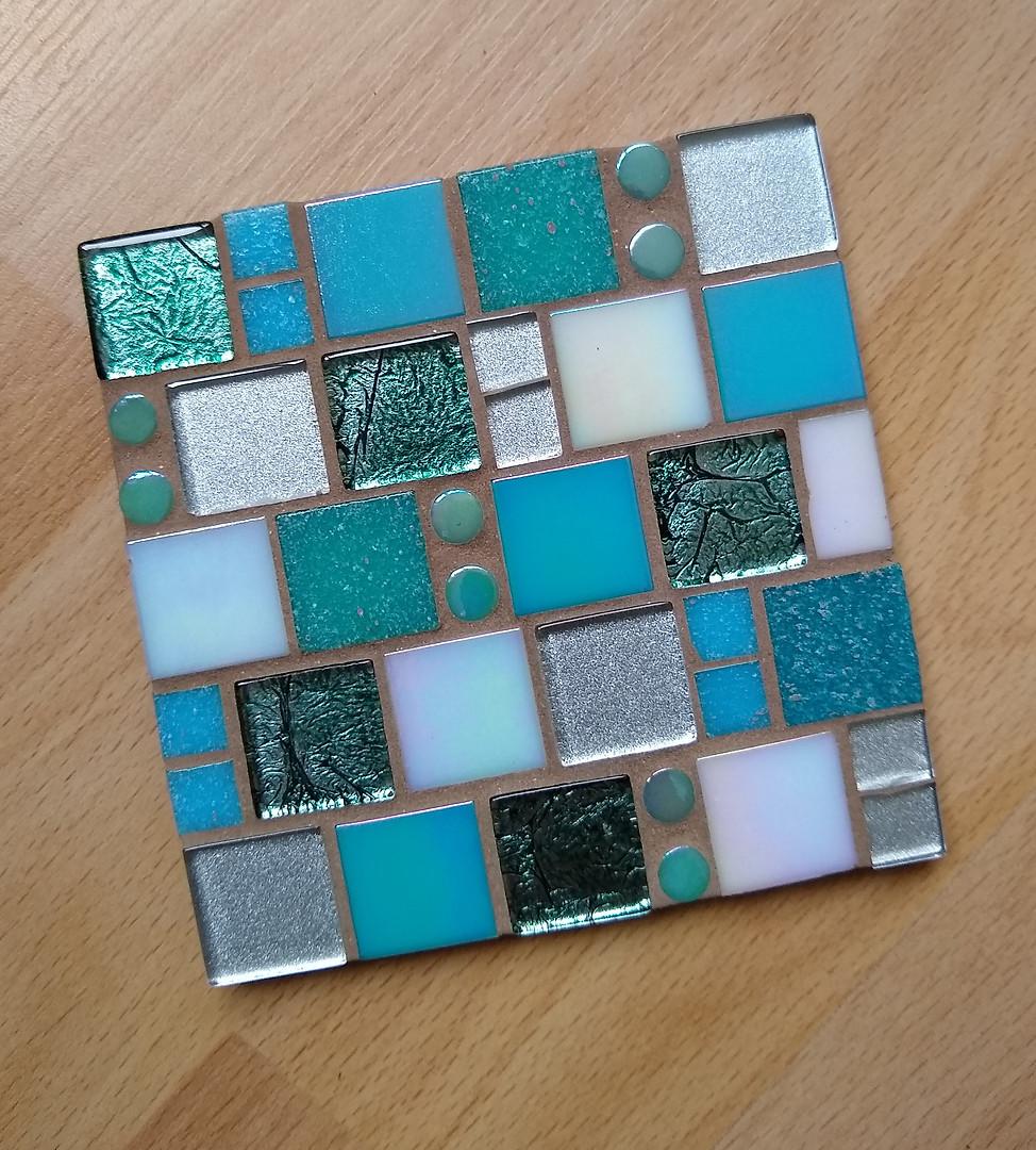 CS27 Turquoise/White Squares  £11 Each