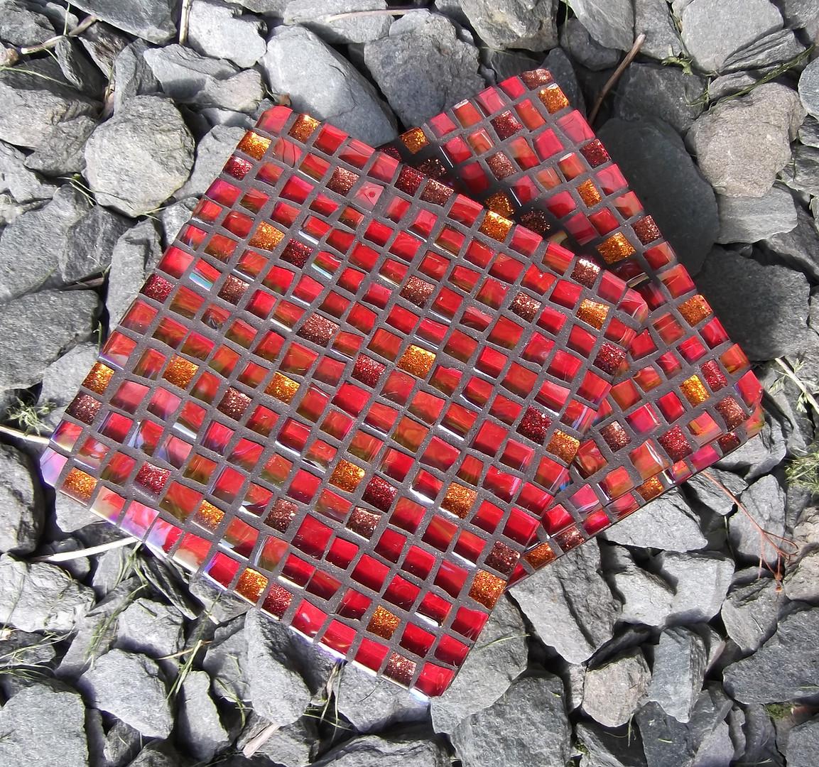 CS20  Red Glitter Mini Squares  £12 Each