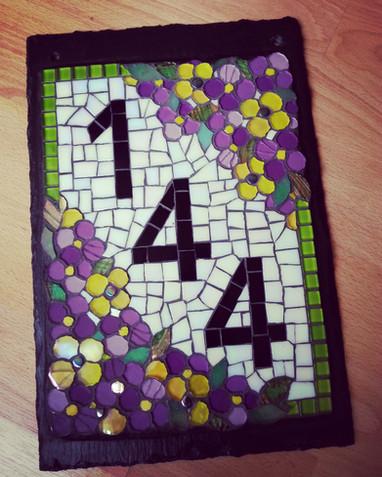 HN5 Purple/Yellow Pansies  £120