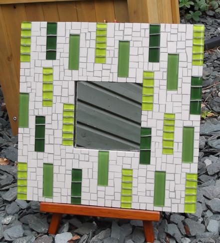MR11 Green Stripes on Cream  £45