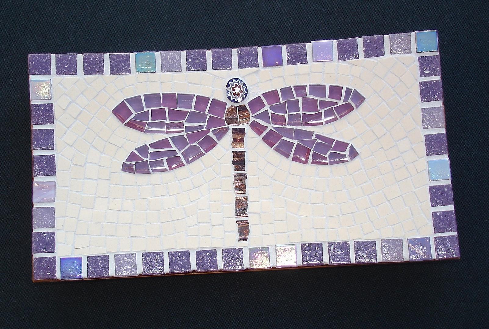 TD11 Purple Dragonfly on Cream  £30