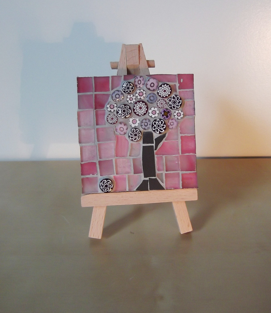 MM6 Small Pink on Pink Blossom (Easel Inc) £12