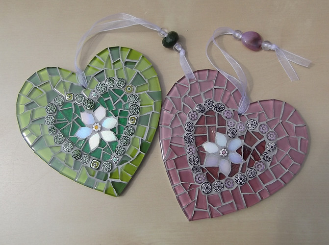 LH11 Large Floral Heart in Heart (Various Colours)  £22 Each