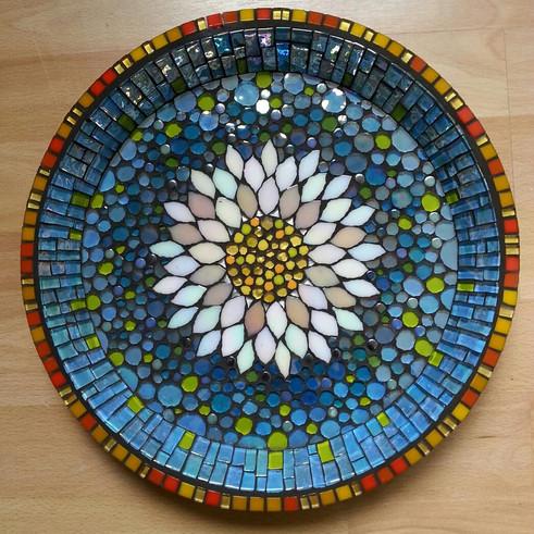 BB2 White Lotus on Blue  £145