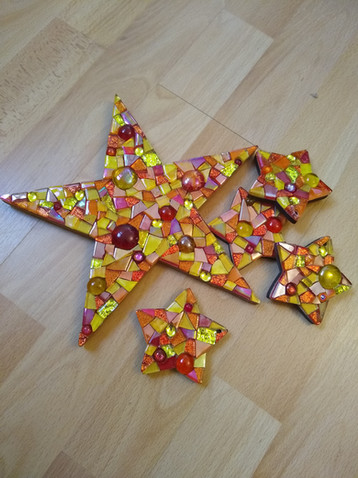 LS25 Large Star Red/Gold £35  (Small Stars can be purchased additionally £9 Each)