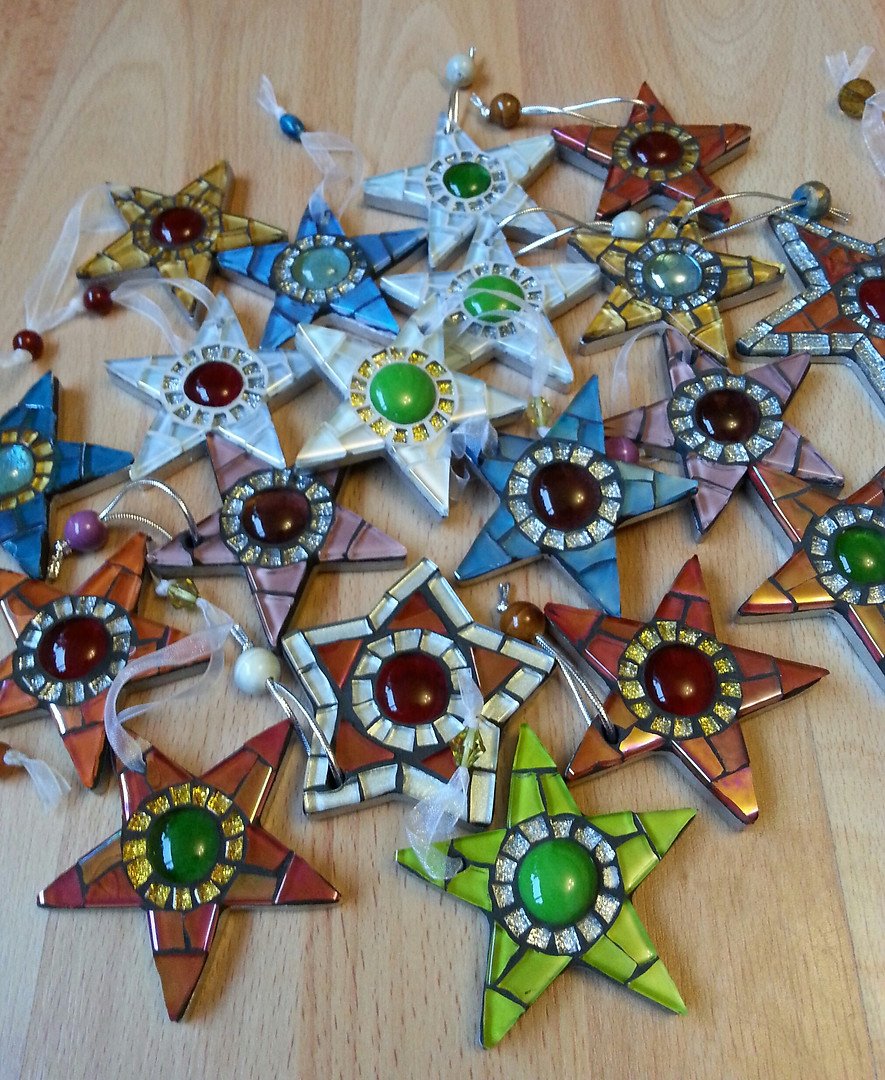 Small Mosaic Stars (Various Prices)