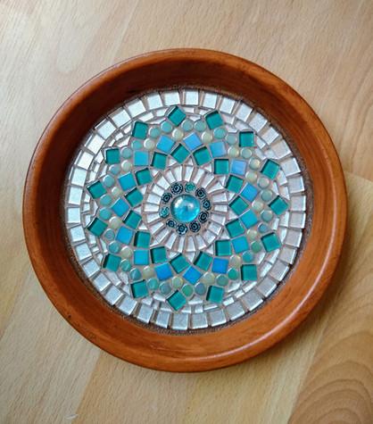 TD3 Turquoise & Silver Mandala  £30