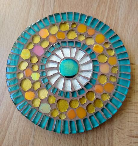 CR3  Turquoise/Yellow Circles  £12