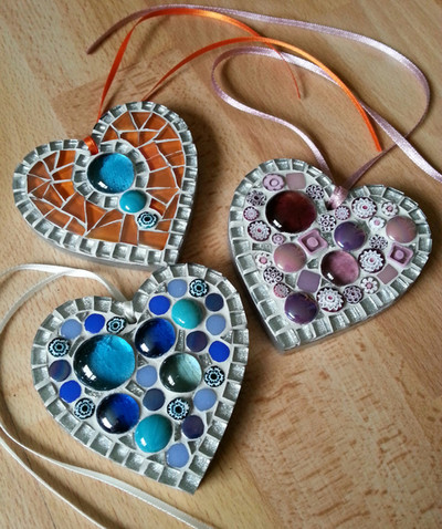 Small Millefiore Hearts  (Various Colours)  £12 each