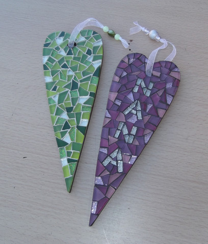 LPH16 Large Personalised Primitive Hearts  £23 Each