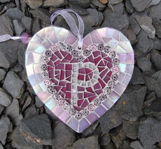 LH14 Large Personalised Heart in Heart  £23