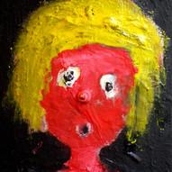 le petit chaperon tout rouge  40x30, technique mixte, collage 2016