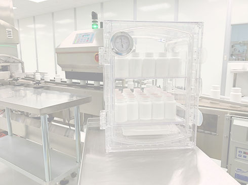 Vacum chamber for checking bottle seals in controlled substance bottle packaging
