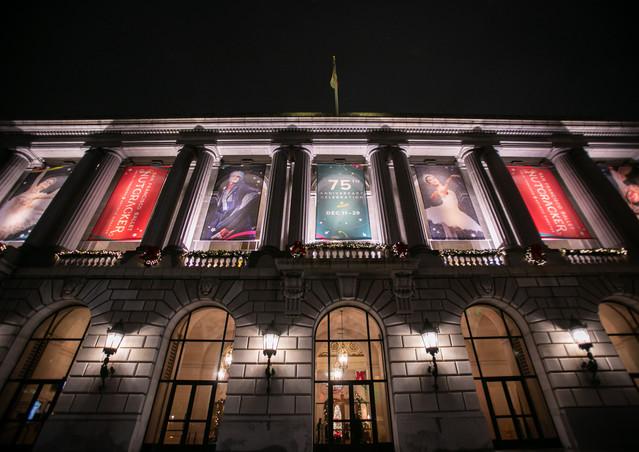 Nutcracker War Memorial Opera House Banner Design