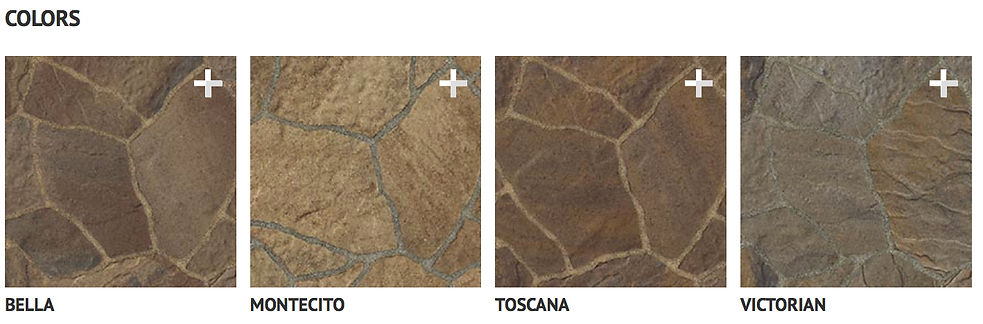 Natural looking hardscapes