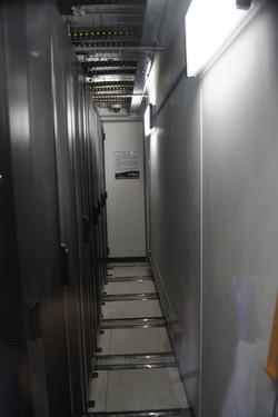Hot aisle of data center