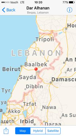 Location of Dar el Hanan