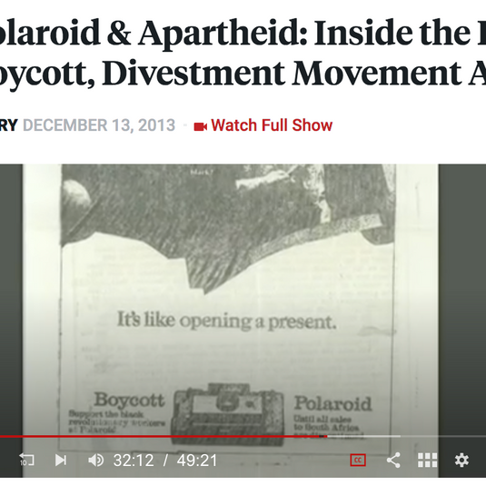 Polaroid & Apartheid...