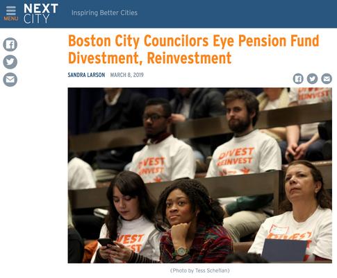 Read: Boston City Councilors Eye Pension Fund Divestment, Reinvestment, Sandra Larson